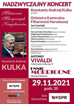 VIVALDI – MORRICONE / Mistrzowie Muzycznych Krajobrazów / Konstanty Andrzej Kulka i Orkiestra Kameralna Filharmonii Narodowej