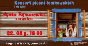 Agata Rymarowicz z zespołem – koncert pieśni łemkowskich i nie tylko