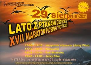 LATO Z PTAKAMI ODCHODZI – XVII Maraton Piosenki Turystycznej i Poetyckiej