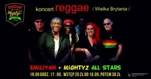 Koncert reggae - EMiLiYAH & MightyZ All Stars (Wielka Brytania)
