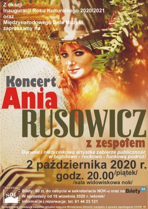 Ania Rusowicz z zespołem