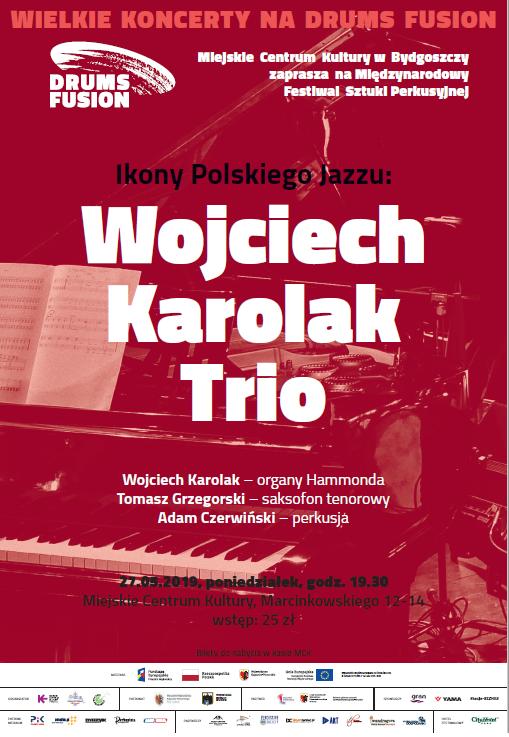 Koncert - Drums Fusion 2019 - Wojciech Karolak TRIO